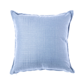 格紋編織抱枕45x45cm 藍