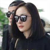 現貨-金屬質感造型墨鏡韓國經典復古奢華方框個性框太陽眼鏡大框正妹型男夏日海灘黑色28