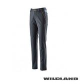 【速捷戶外】台灣Wildland 荒野 0A22395-54 女RE彈性貼合防風合身長褲-黑色