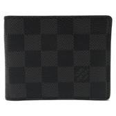 LOUIS VUITTON LV 路易威登 黑色棋盤格簡式紙鈔夾短夾 Pince Wallet N61000 BRAND OFF