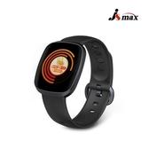 JSmax SW-Z02 AI智慧健康管理手環曜石黑(黑錶帶)