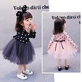 女童長袖洋裝秋裝新款1紗裙2寶寶公主裙子