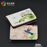 中國風名片夾訂製男女士商務高檔職業名片盒皮質創意個性銀行卡盒    易家樂