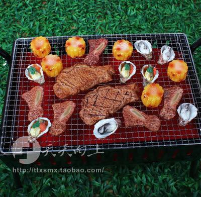 仿真燒烤食物模型 戶外用品 仿真牛排模型 樣板間裝飾 烤肉模型(全套21種模型)─預購CH3545