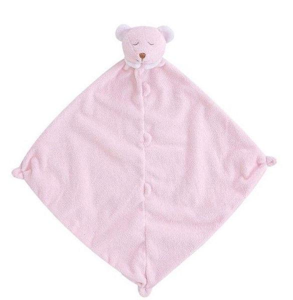 美國Angel Dear 動物嬰兒安撫巾 粉色熊熊