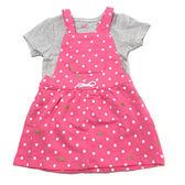 Carter s 短袖吊帶裙套裝 包屁衣+吊帶短裙洋裝二件組粉紅點點 女寶寶【CA121I156】