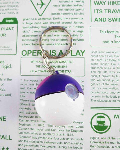 【震撼精品百貨】神奇寶貝_Pokemon~放大鎖圈/鑰匙圈-寶貝球(紫)