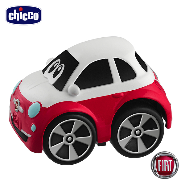 chicco-FIAT 500 經典迴力車-紅白色