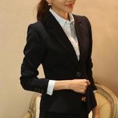 西裝外套 小西裝女韓版修身面試正裝春秋上衣短款工作服女式休閒西服外套潮 新年慶