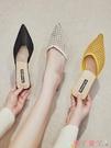 穆勒鞋包頭半拖鞋女2021夏季新款外穿尖頭透氣細跟網紗穆勒韓版高跟涼拖 愛丫 新品