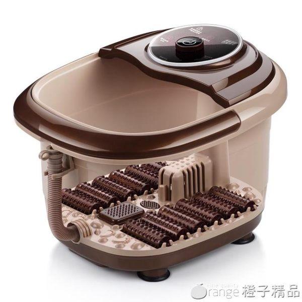 220V足浴盆全自動電加熱按摩洗腳器恒溫沐足泡腳桶足療機家用QM   橙子精品
