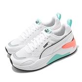 Puma 休閒鞋 X-Ray 2 Square 白 藍 橘 小白鞋 運動鞋 男鞋 女鞋 基本 復古【ACS】 37310817