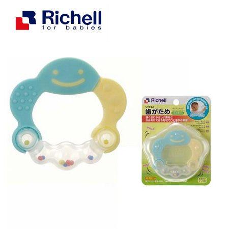 日本Richell-水藍有聲音型 固齒器(小雲朵)