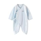 2019年新款嬰兒衣服連身衣0-6月男女寶寶純棉蝴蝶哈衣爬服