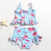 兒童泳衣分體裙式寶寶公主小童連體韓國可愛比基尼泳裝女童游泳衣