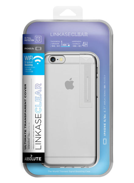 iPhone 6S / 6S PLUS Linkase Clear 3D全包覆4H抗刮全透明保護殼(WIFI加強款)