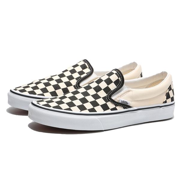 VANS 休閒鞋 CLASSIC SLIP-ON 黑 白 棋盤格 經典款 懶人鞋 男女(布魯克林) VN000EYEBWW