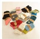 羊毛襪女 加厚保暖女士短襪純色經典襪子冬季女襪羊絨襪【3雙裝】