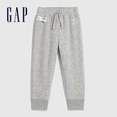 Gap女幼童 Logo漸層風格鬆緊針織褲 619620-淺灰色