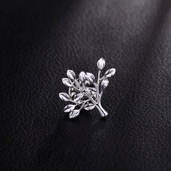 歐美樹葉男士胸針復古英倫西裝胸花配飾高檔襯衫領針領扣潮人徽章 【好康八九折】