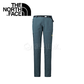【The North Face 女款 彈性防潑保暖長褲《墨水藍》】364Q40Q/防潑水/抓絨/休閒長褲