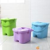洗腳桶 帶蓋加高加厚足浴桶 按摩保溫泡腳桶足浴盆 塑料手提洗腳桶洗腳盆 雅楓居