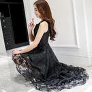 洋裝 無袖歐根紗網紗 韓版 婚禮小禮服 ...