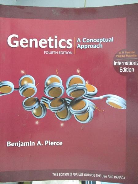 【書寶二手書T4/大學理工醫_EPY】Genetics : a conceptual approach_Benjamin