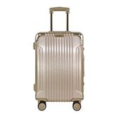 BATOLON 經典25吋鋁框行李箱香檳、玫瑰金隨機出貨【愛買】