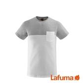 LAFUMA 男 ESCAPER 有機棉短袖T恤 灰白 LFV115664809【GO WILD】