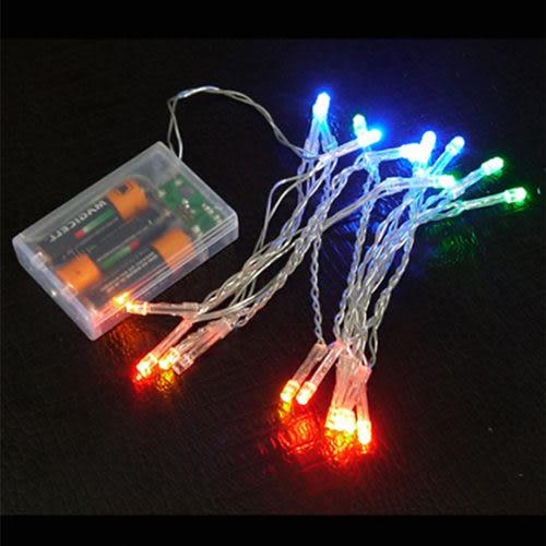 【摩達客】台灣製迷你1呎/1尺(30cm)裝飾聖誕樹(銀紫色系)+LED20燈電池燈(彩光)