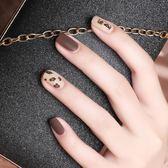 美甲飾品女網紅指甲貼片2019年新款3d貼美甲飾品磨砂貼花【極簡生活館】
