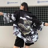 日式和服外套和風道袍古風仙鶴男女開衫【步行者戶外生活館】