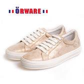 ORWARE-MIT舒適亮珠光休閒板鞋 652032-24(金)