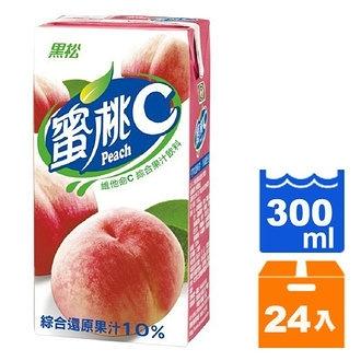 黑松蜜桃C維他命C綜合果汁飲料300ml(24入)/箱【康鄰超市】