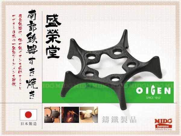 日本 南部鐵器 盛榮堂 鐵壺 星型底盤 (19cm)《Midohouse》