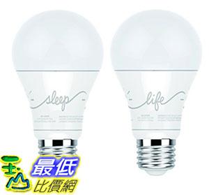 智能燈泡 C by GE A19 C-Life and C-Sleep Smart LED Light Bulb Combo by GE Lighting 2-Pack