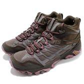 Merrell 戶外鞋 Moab FST Mid GTX 咖啡 粉紅 Gore-Tex 健走 登山鞋 女鞋【PUMP306】 ML37134