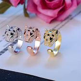 戒指 霸氣男士豹頭個性戒指簡約時尚單身開口指環網紅抖音歐美飾品戒子