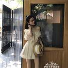 港味復古chic氣質荷葉邊仙女裙修身顯瘦吊帶裙短裙性感露肩連衣裙『夢娜麗莎精品館』