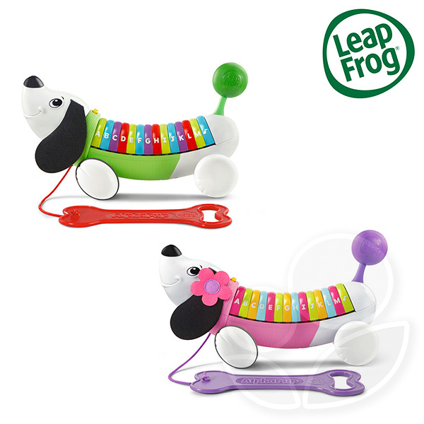 Leap frog 跳跳蛙 彩虹字母小狗 (綠/粉)【佳兒園婦幼館】