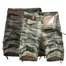經典潮流格紋口袋造型百搭休閒短褲