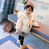 女寶寶冬裝棉衣新款嬰兒童裝3歲4女童毛領加厚羽絨棉棉服外套    韓小姐