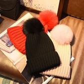 毛帽-純色毛球加厚保暖男女針織帽9色73ug40[巴黎精品]