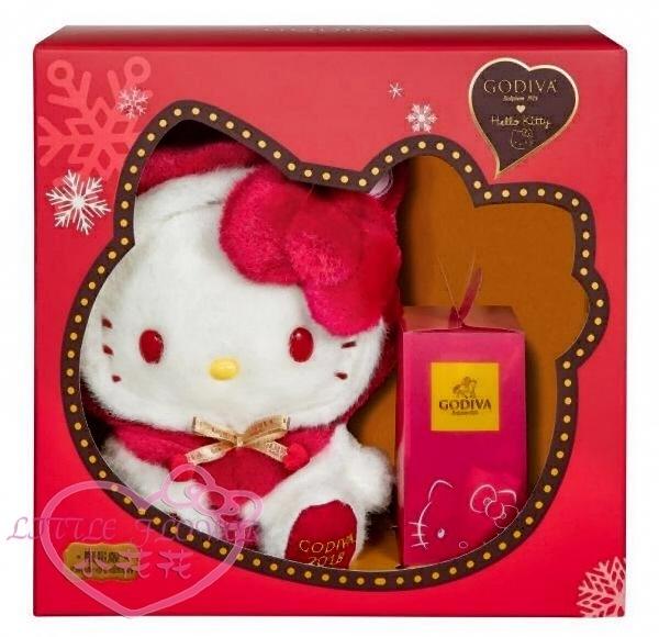 ♥小花花日本精品♥輸入折扣碼Yahoo1225享優惠 hello kittyX GODIVA聯名G Cube松露巧克力禮盒