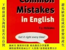 二手書博民逛書店Common罕見Mistakes In EnglishY255562 Acis J Fitikides Lon