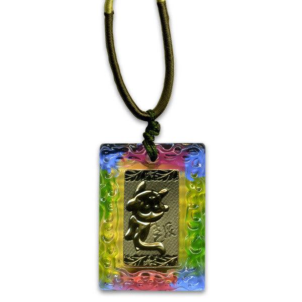 鹿港窯~居家開運金箔琉璃項鍊~十二生肖-猴◆附精美包裝