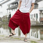 泰國褲子燈籠褲男寬鬆亞麻哈倫褲尼