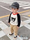 嬰兒拼接針織衫毛衣兒童裝寶寶男女童韓版小童【奇趣小屋】