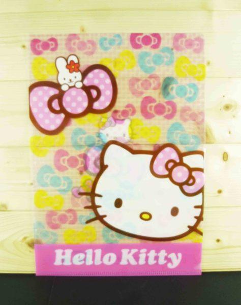 【震撼精品百貨】Hello Kitty 凱蒂貓~文件夾~彩色蝴蝶結